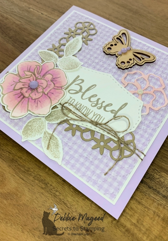 Pretty Friendship Card Using To A Wild Rose by Stampin' Up!