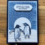 Embossed Watercolor Lifting with Playful Penguins Stamp Set