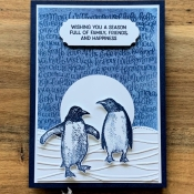 Fun Holiday Card Using Playful Penguins by Stampin