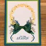 Pretty Holiday Card Featuring Tidings All Around by Stampin