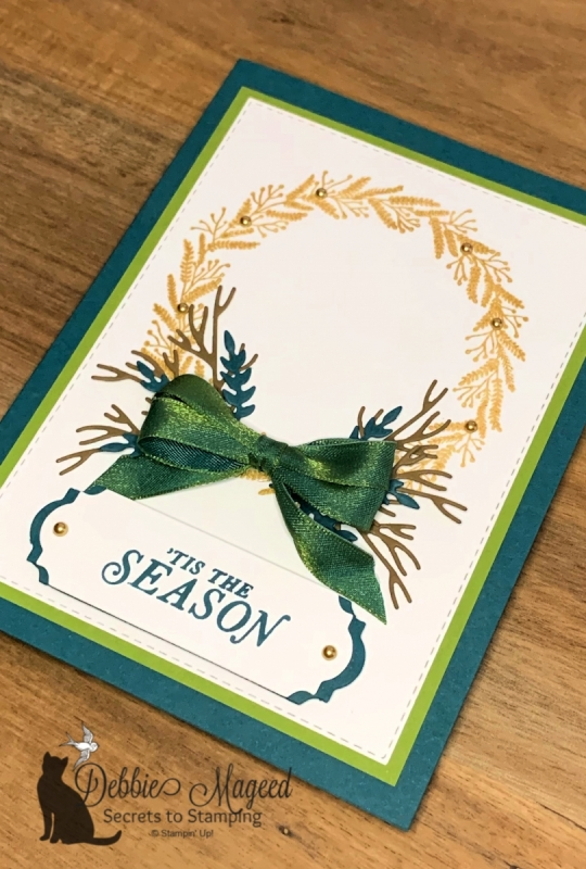 Pretty Holiday Card Featuring Tidings All Around by Stampin' Up!