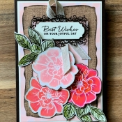 Rustic Birthday Card Featuing To A Wild Rose by Stampin