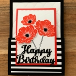 Poppies Fun Fold Card Using Floral Essence for Make My Monday
