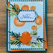 Autumn All Occasion Card Featuring Flourishing Phrases and Come to Gather by Stampin