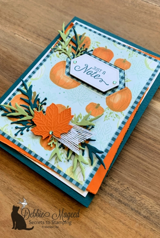 Autumn All Occasion Card Featuring Flourishing Phrases and Come to Gather by Stampin' Up!
