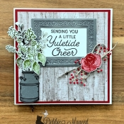 Rustic Holiday Card Featuring Frosted Foliage, First Frost, Country Home Stamp Sets from Stampin