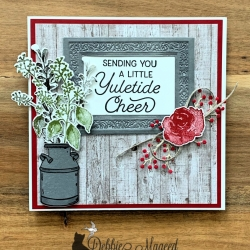 Rustic Holiday Card Featuring Frosted Foliage, First Frost, Country Home Stamp Sets from Stampin' Up!