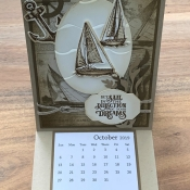 Calendar Easel Card Featuring Sailing Home by Stampin
