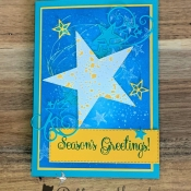 Holiday Card Featuing So Many Stars by Stampin