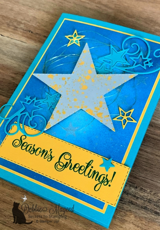 Holiday Card Featuing So Many Stars by Stampin' Up!