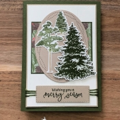 Holiday Card Featuring Winter Woods and Rooted In Nature by Stampin