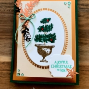 Elegant Holiday Card Featuring Beauty & Joy Stamp Set by Stampin