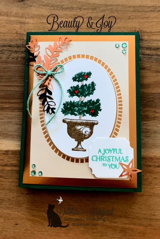 Elegant Holiday Card Featuring Beauty & Joy Stamp Set by Stampin' Up!