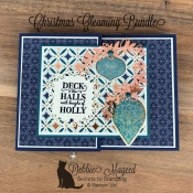 Holiday Fun Fold Card Featuring Christmas Gleaming By Stampin