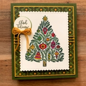Holiday Card Featuring Memories of Home Stamp Set by Stampin