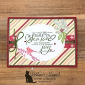 Cheerful Holiday Card featuring Merry Christmas to All by Stampin