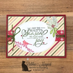 Cheerful Holiday Card featuring Merry Christmas to All by Stampin' Up!