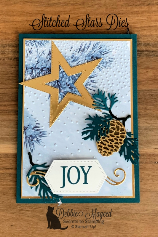 Winter Holiday Card featuring So Many Stars and Stitched Stars Dies by Stampin' Up!