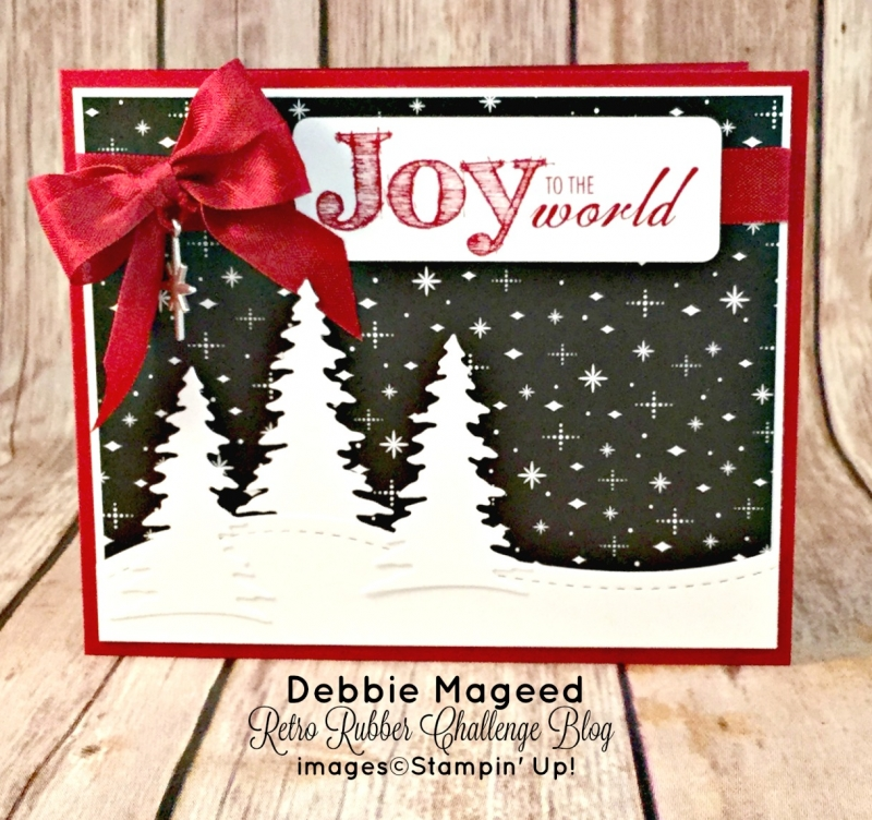 Holiday Card Featuring Joy to the World by Stampin' Up!