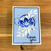 Shimmer Laser Cut Floral Card by Stampin