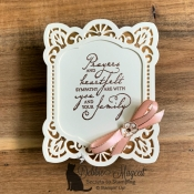 Woven Heirlooms Shaped Card by Stampin