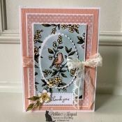 Pretty Spring Card Featuring Free As A Bird by Stampin