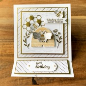 Sweet Easel Card Featuring Honey Bee Stamp Set by Stampin