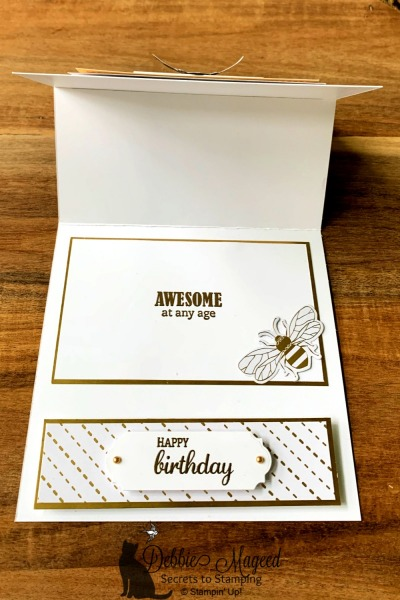 Sweet Easel Card Featuring Honey Bee Stamp Set by Stampin' Up!