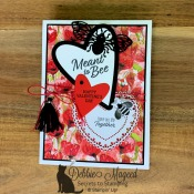 Valentine Card Featuring Meant To Be stamp set by Stampin