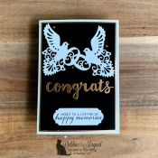 Elegant Wedding Card Featuring To Have & To Hold by Stampin