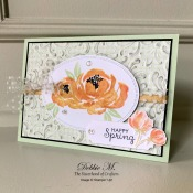 Pretty Spring Card Featuring Beautiful Friendship by Stampin