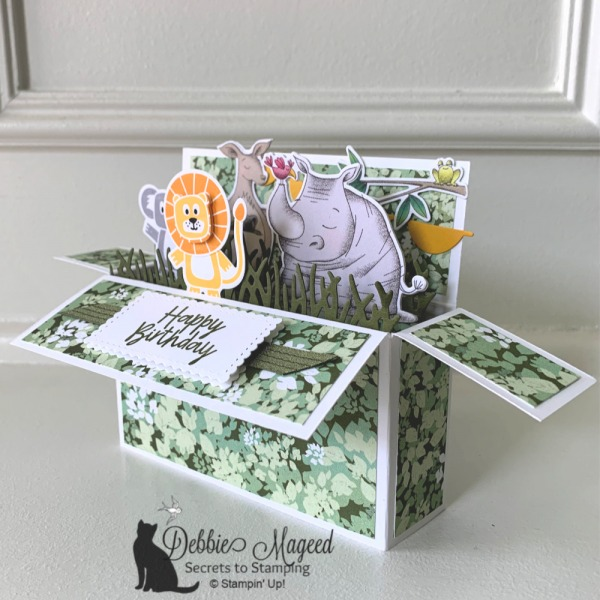 Fun Birthday Card Featuring Bonanza Buddies and Animal Outing by Stampin' Up!