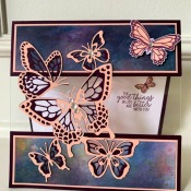 Fun Fold Card Featuring Butterfly Gala Stamp Set by Stampin