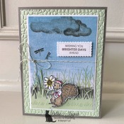 Cute Card with Fable Friends by Stampin