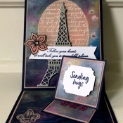 Double Easel Card Featuring Parisian Beauty Stamp Set by Stampin