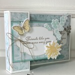 Positive Thoughts Friendship Card for Fun Fold Friday