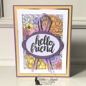 Pretty Spring Friendship Card Featuring Seriously the Best and Breathtaking Bouquet Stamp Sets by Stampin