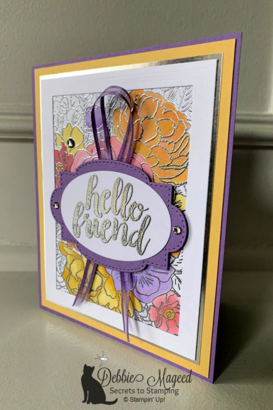 Pretty Spring Friendship Card Featuring Seriously the Best and Breathtaking Bouquet Stamp Sets by Stampin' Up!
