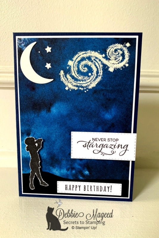 Kid's Birthday Card Featuring Stargazing Stamp Set by Stampin' Up!