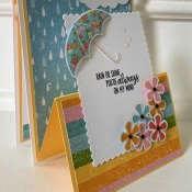 Pretty Spring Card Featuring Under My Umbrella by Stampin