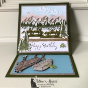 Masculine Card Using Mountain Air and By The Dock by Stampin