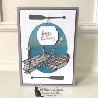 Masculine Birthday Card using By the Dock by Stampin