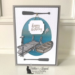 Masculine Birthday Card using By the Dock by Stampin' Up!