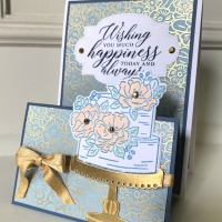 Wedding Card Featuring So Sentimental Stamp Set by Stampin