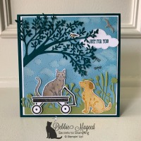 Fun Friendship Card Featuring Happy Tails by Stampin
