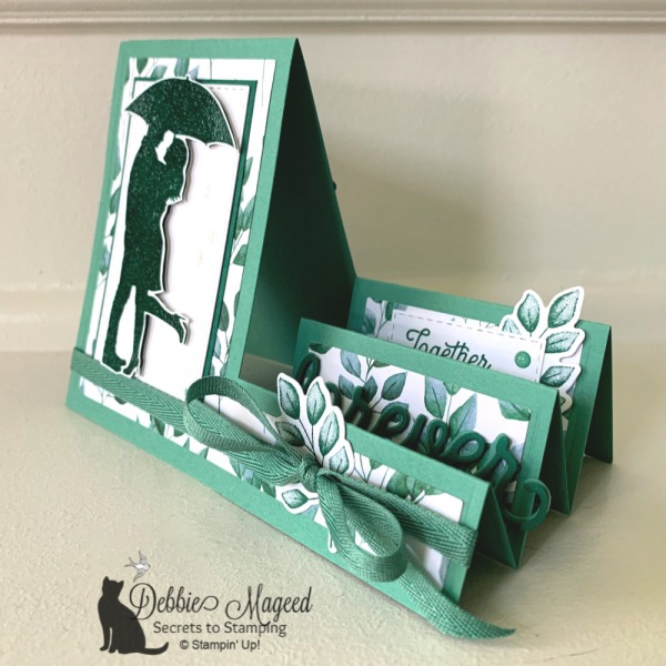 Side Step Wedding Card Using Stamps by Stampin' Up!