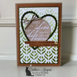 Stenciled World of Good Card Featuring World of Good Memories & More by Stampin' Up!