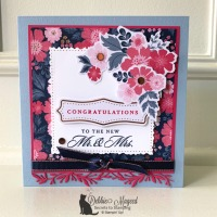 Wedding Card Featuring Everything Is Rosy Product Medley by Stampin