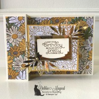 Fun Fold Card Featuring Everything Is Rosy by Stampin
