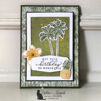 Timeless Tropical Birthday Fun Fold Card by Stampin